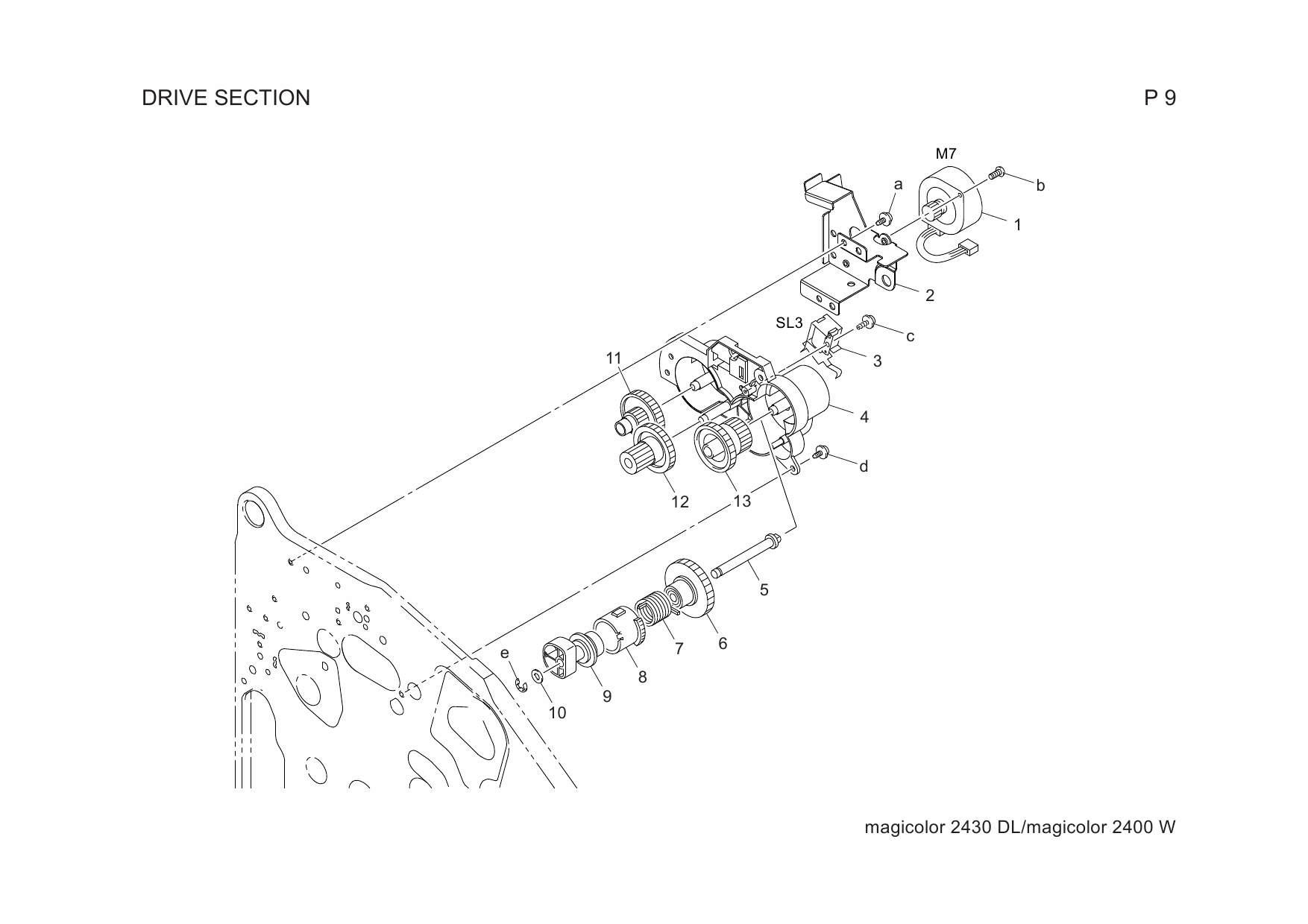 konica minolta 2400w repair manual